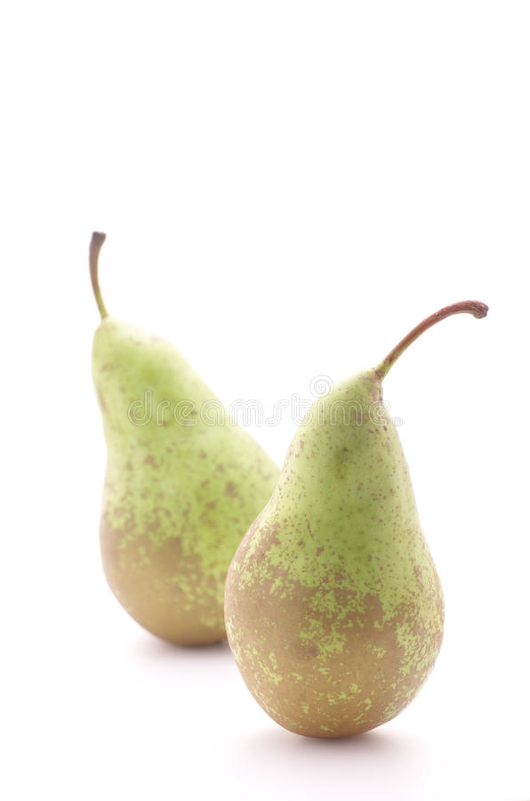 Two pears. stock images