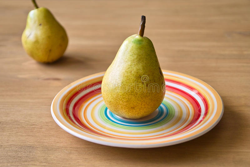 Download Two pears stock image. Image of vitamin, plate, diet - 31200335