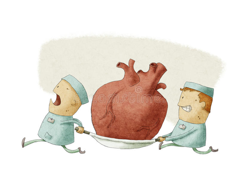 Download Two People Carrying A Heart Stock Illustration - Image: 32030029