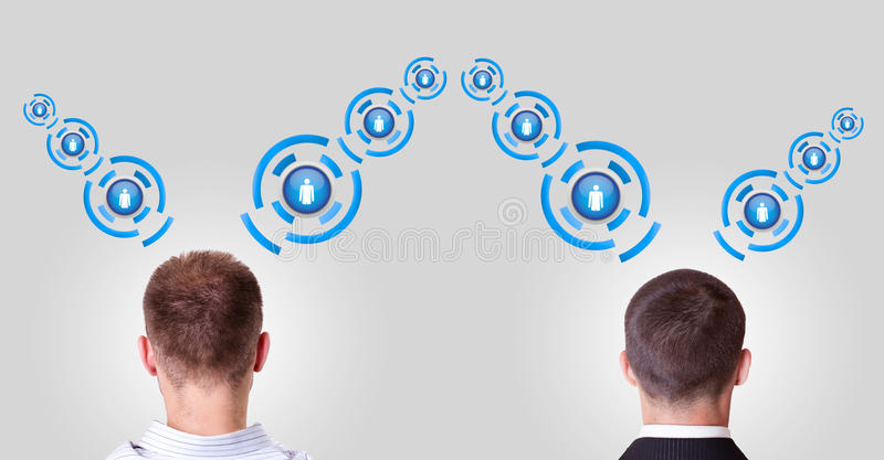 Download Two People They Communicate With Other Stock Illustration - Image: 25394510