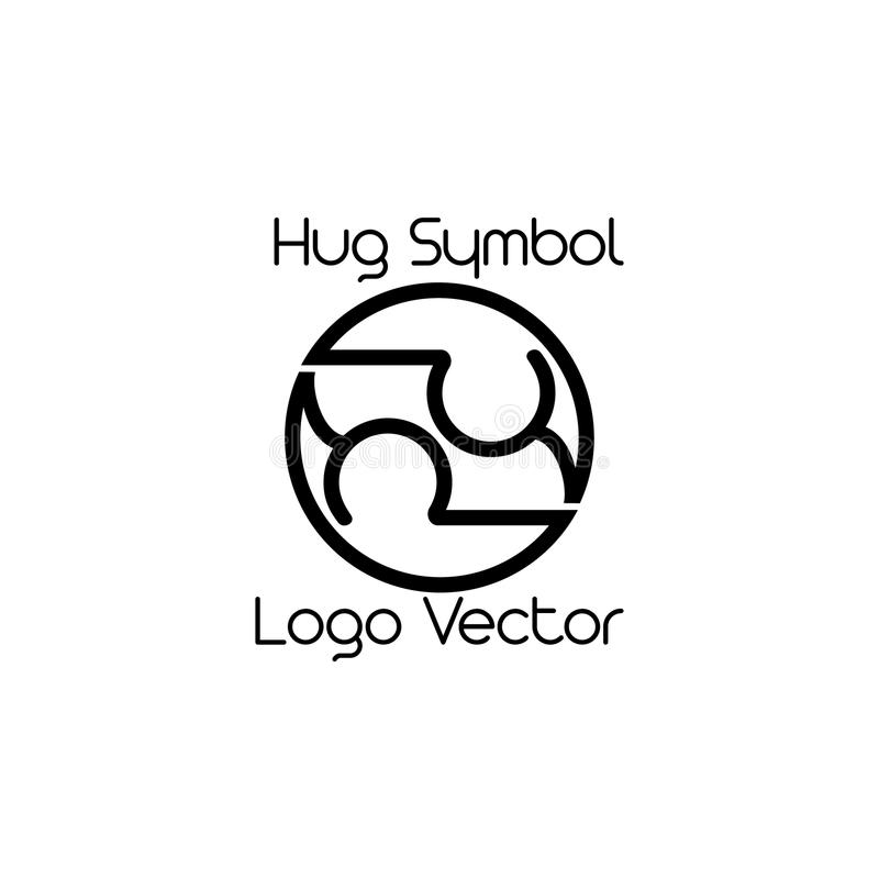 Hug symbol logo vector stock illustration