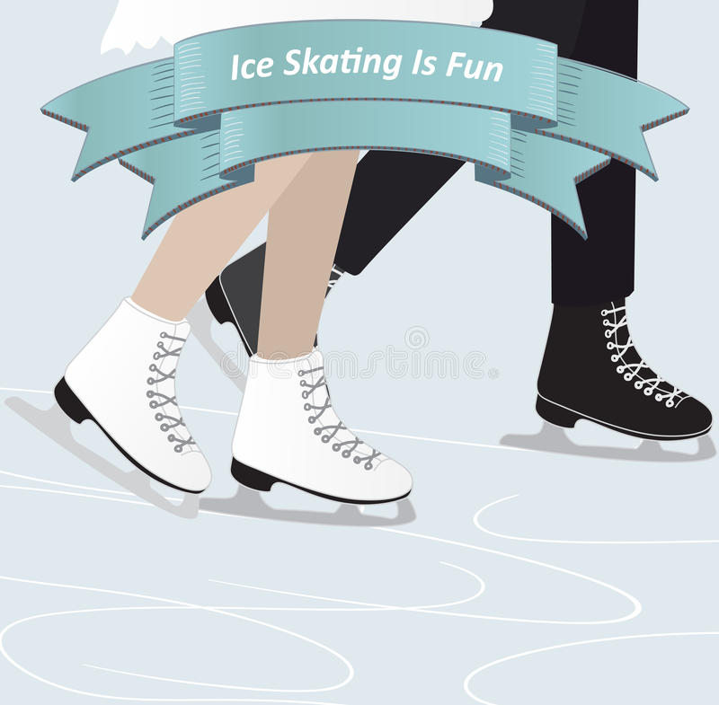 Download Two people ice skating stock vector. Illustration of skaters - 39502391