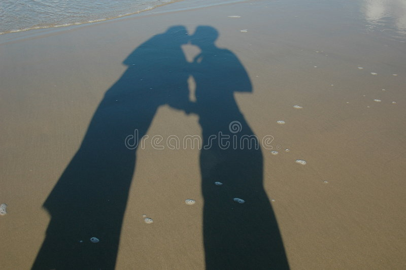 Two people in love stock image