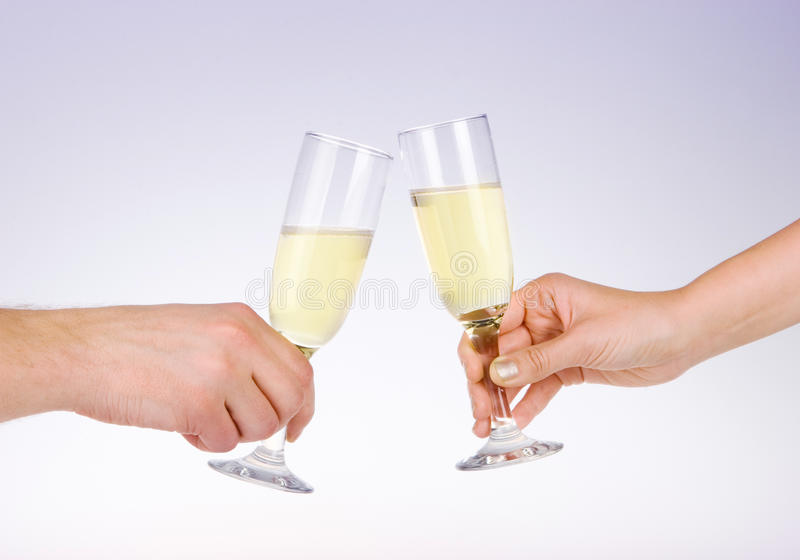 Download Two People Toasting With Wine Glasses Stock Photo - Image: 59254602