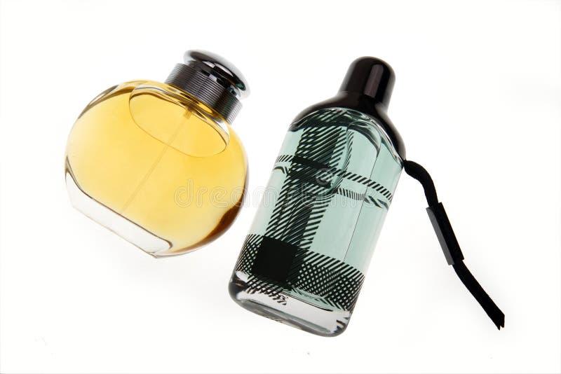 Two perfumes stock photo