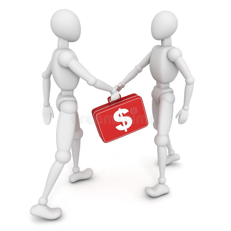 Download Two Person Handover A Red Money Suitcase Stock Illustration - Image: 28202868