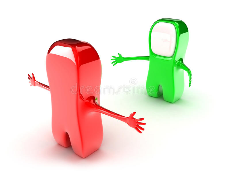 Download Two persons stock illustration. Image of meeting, friends - 25936591