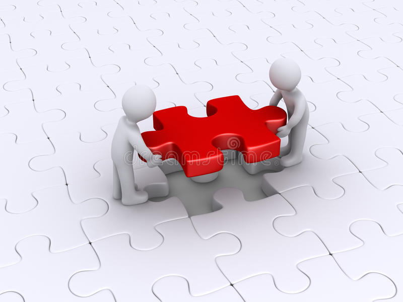 Download Two Persons Finish Puzzle Stock Photo - Image: 30424660