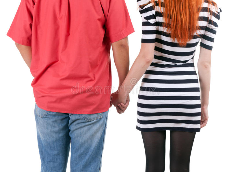 Download Two Persons Holding On Hands Stock Photo - Image of people, black: 15645974