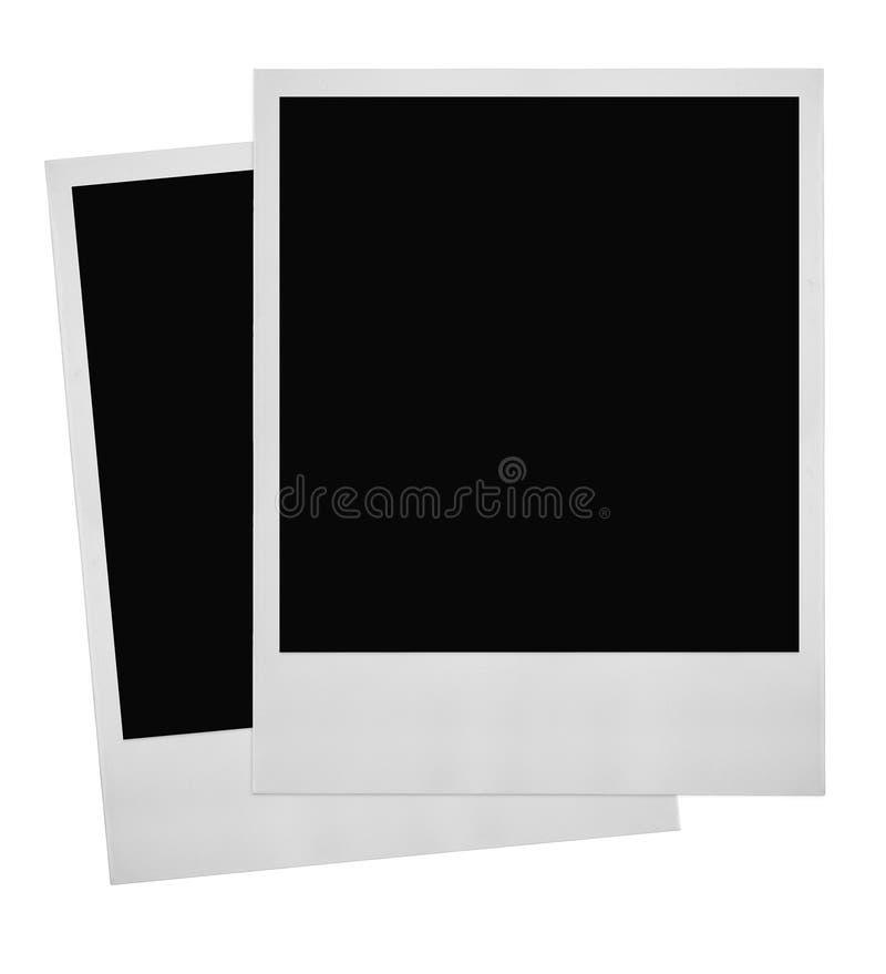 Two photo frames vector illustration