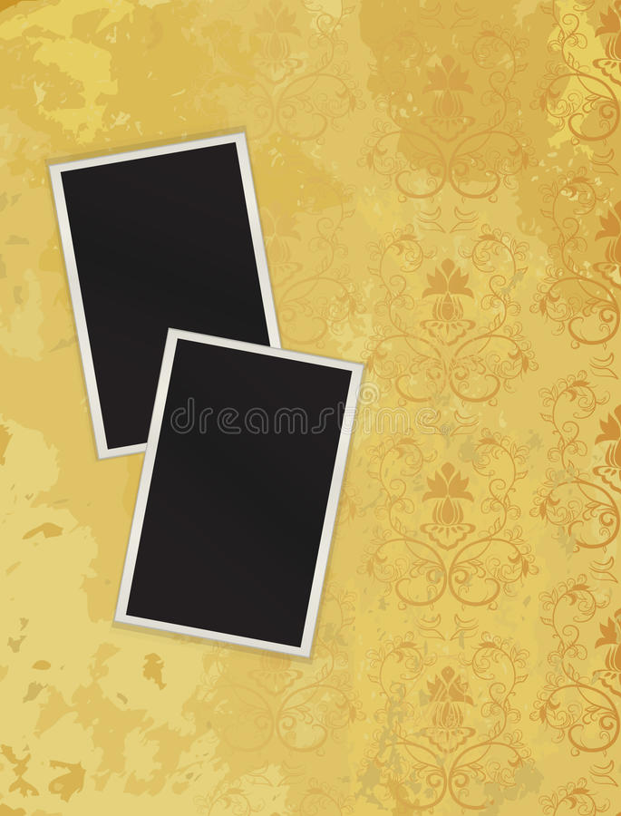Download Two Photos Lying On Grunge To A Structure. Eps10 Stock Vector - Image: 16877116
