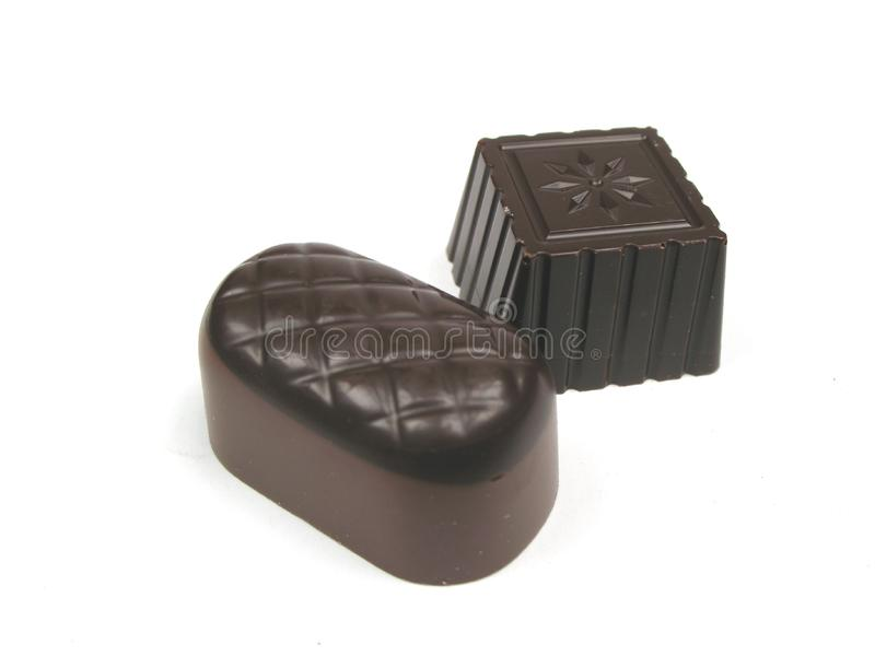 Download Two pieces of chocolate stock image. Image of petit, dark - 6825049