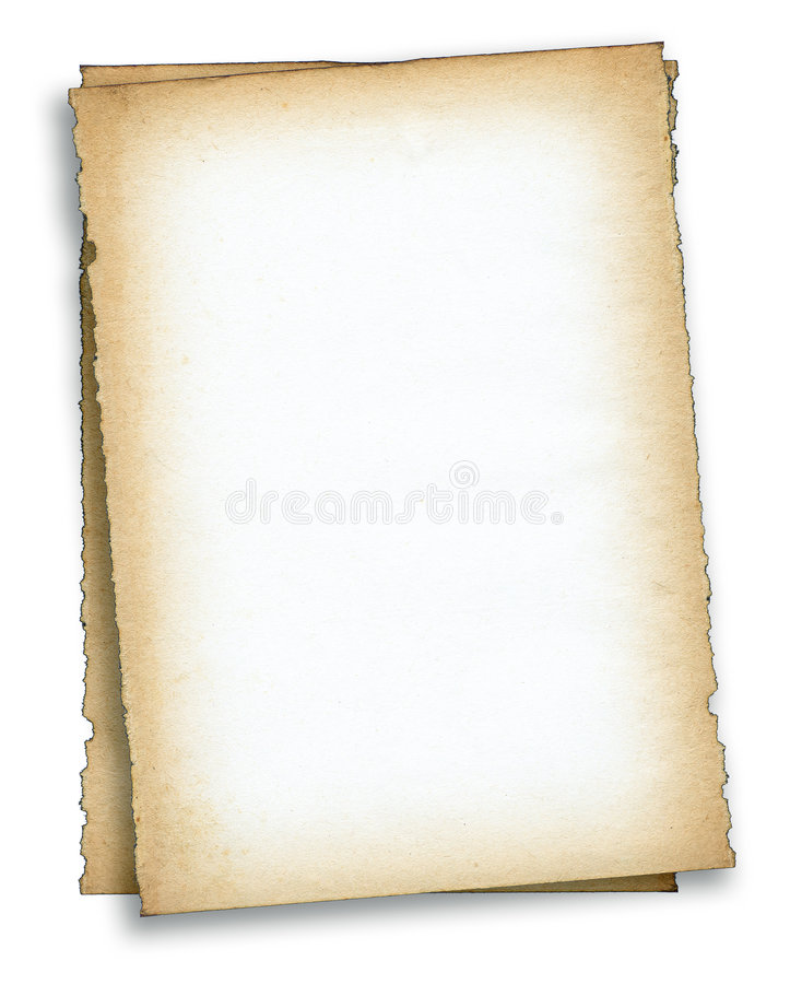Free Two Pieces Of Old Paper Stock Photography - 4728992