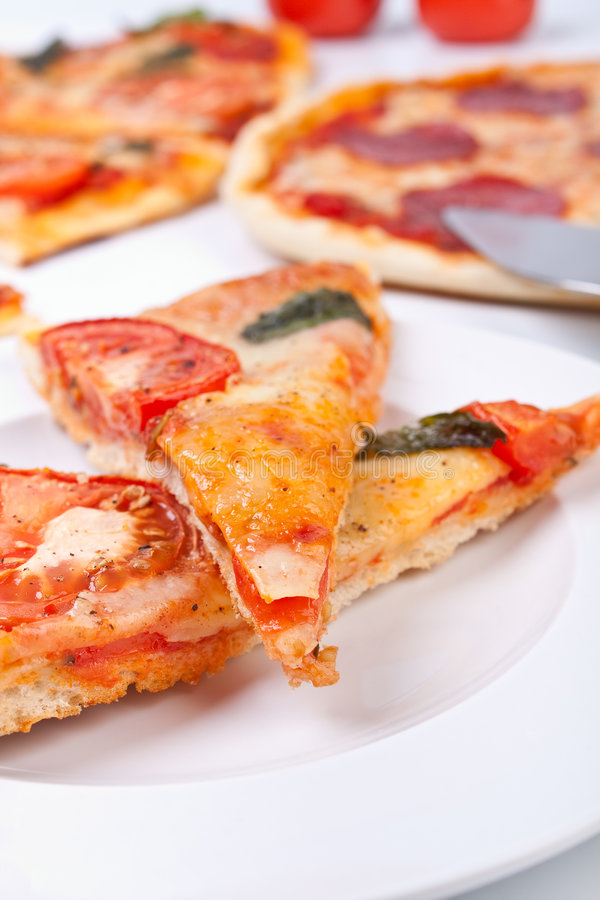 Download Two Pieces Of Pizza Closeup Stock Photo - Image: 7790868