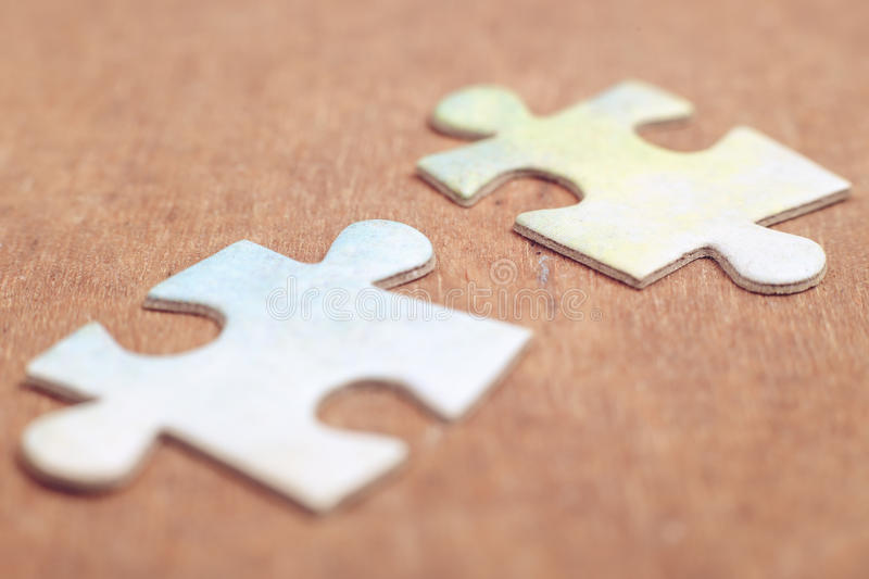 Two Pieces Of Puzzle stock images