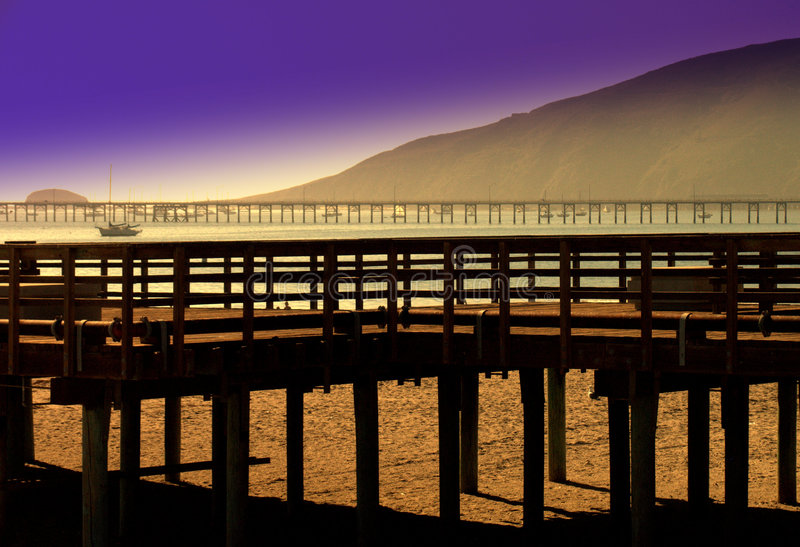 Download Two Piers Stock Photo - Image: 2226180