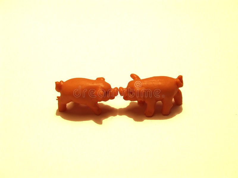 Download Two Pigs stock photo. Image of fight, play, argue, discuss - 325052