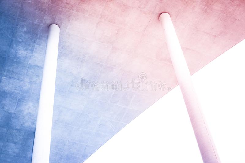 Two pillars supporting roof , coloums holding roof stock photography