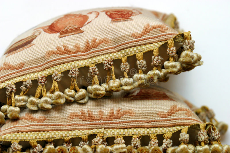 Download Two pillows stock image. Image of knitting, work, ancient - 1421531
