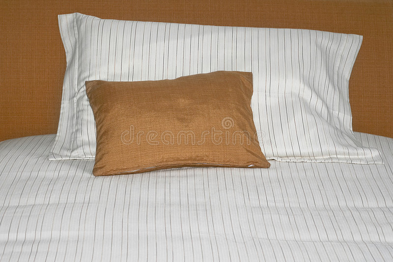 Download Two pillows stock photo. Image of brown, interior, sheet - 3652020