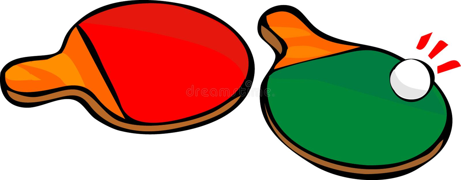 Download Two ping-pong racket stock vector. Image of leisure, couple - 7950258