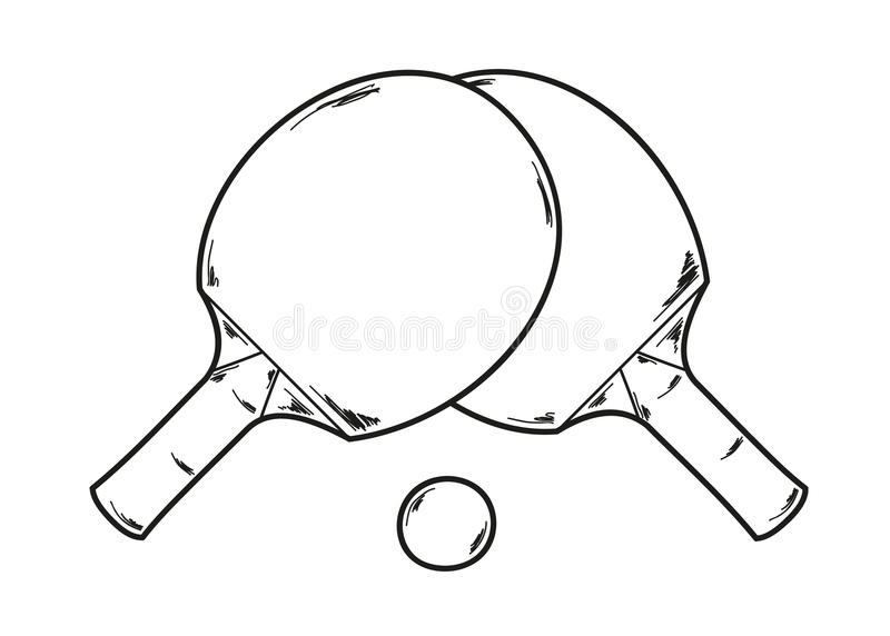 Two ping pong rackets stock illustration