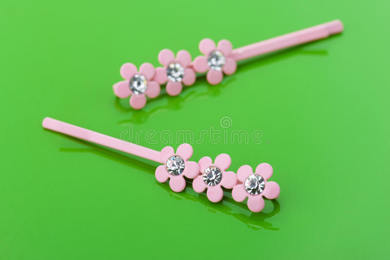 Download Two pink barrettes stock image. Image of jewel, bobby - 33568875