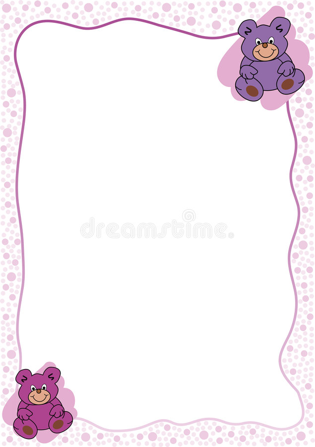 Two pink bears stock photo