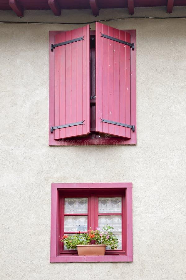 Two pink windows royalty free stock photos
