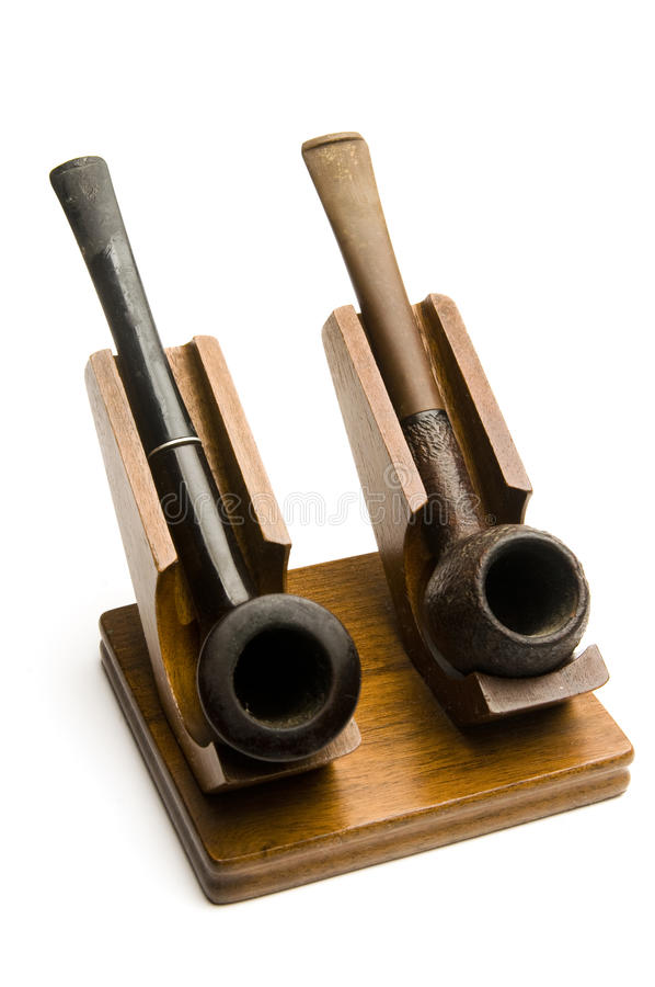 Download Two pipes in pipe rack stock image. Image of smoker, briar - 13101915