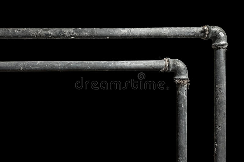 Two pipes royalty free stock photo