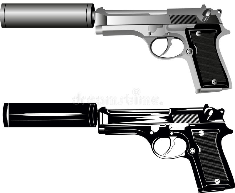 Two pistols royalty free illustration
