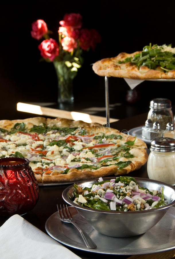 Two pizzas royalty free stock image