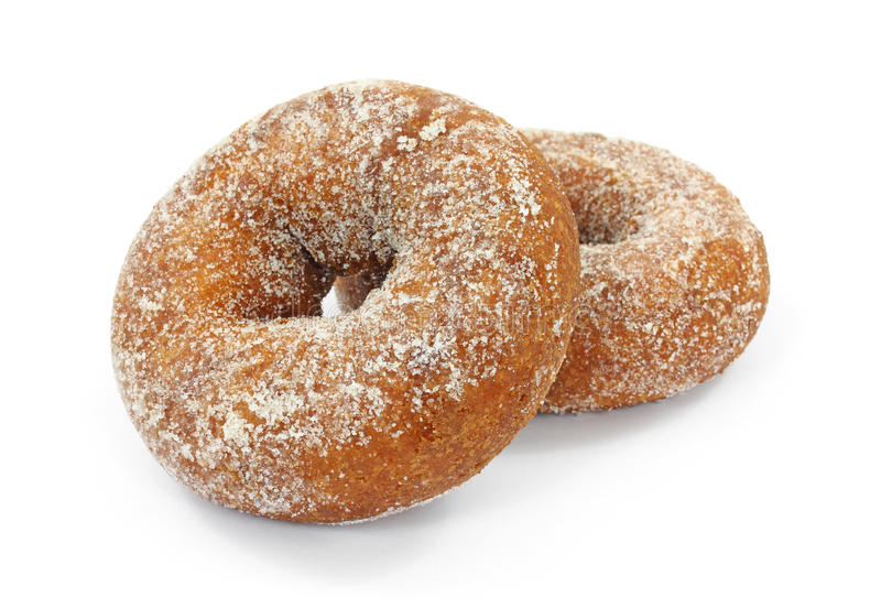 Download Two Plain Sugar Cake Doughnuts Stock Photo - Image of food, delicious: 20024136