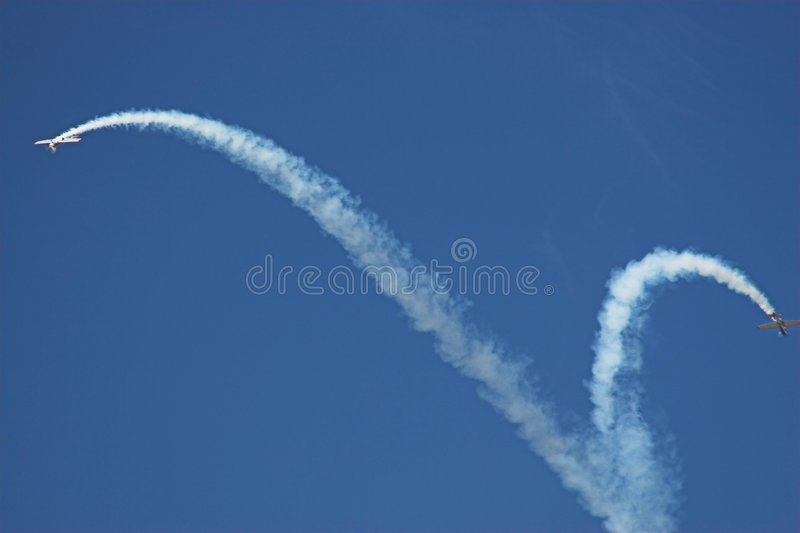 Download Two planes stock photo. Image of dive, pattern, formation - 172526