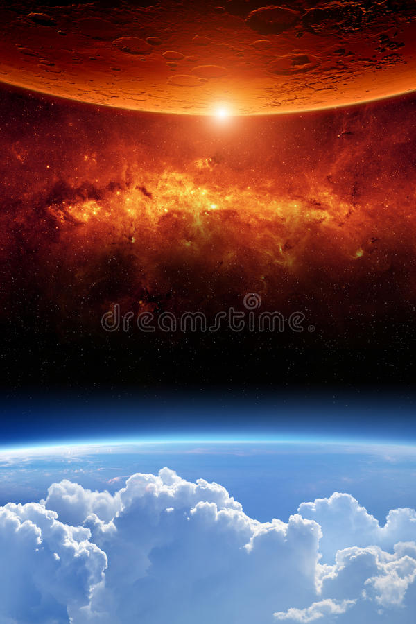 Free Two Planets Royalty Free Stock Image - 29043406