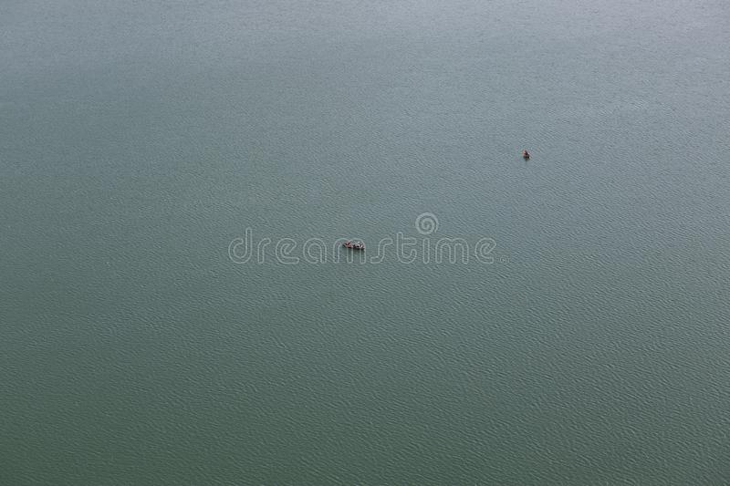 Two pleasure boats with tourists on Lake Bled stock images