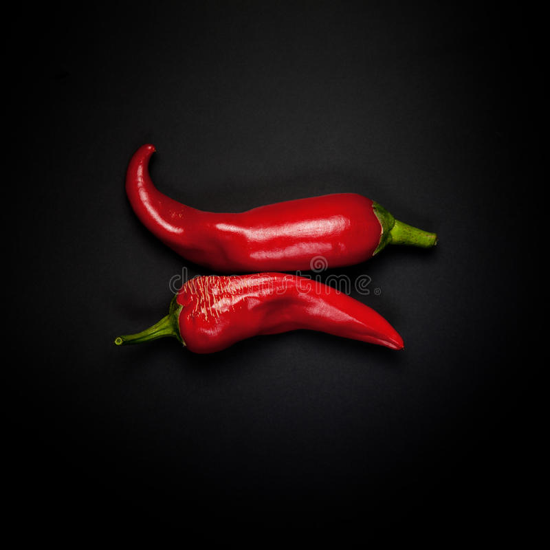 Download Two pods of red pepper stock image. Image of pepper, group - 22262157