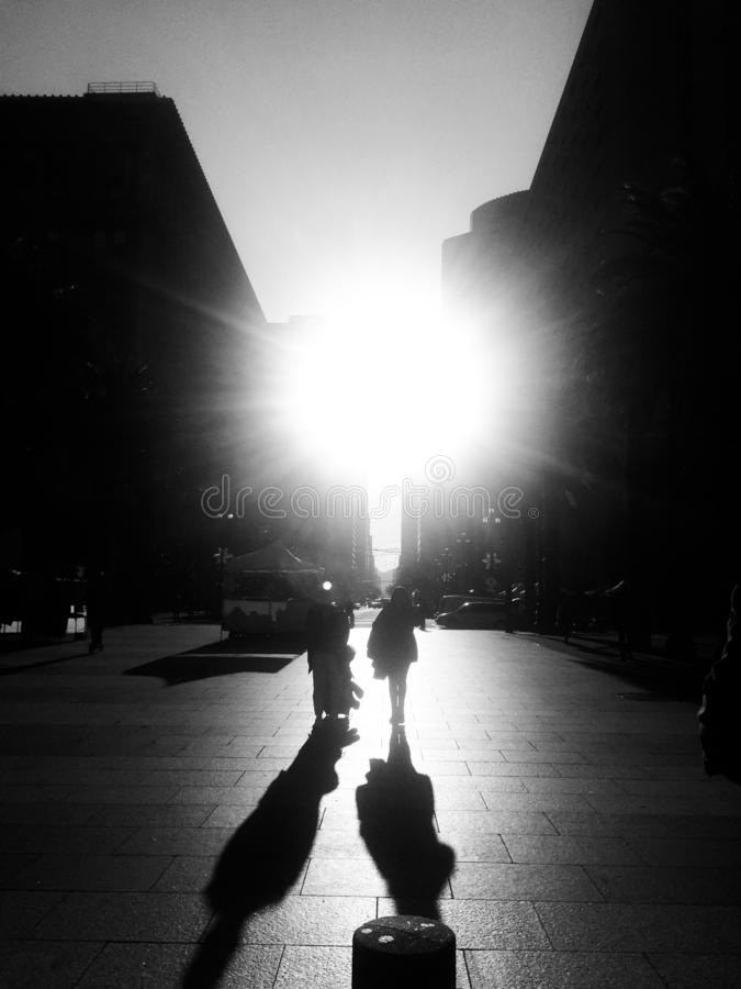 Light shining through the darkness royalty free stock images