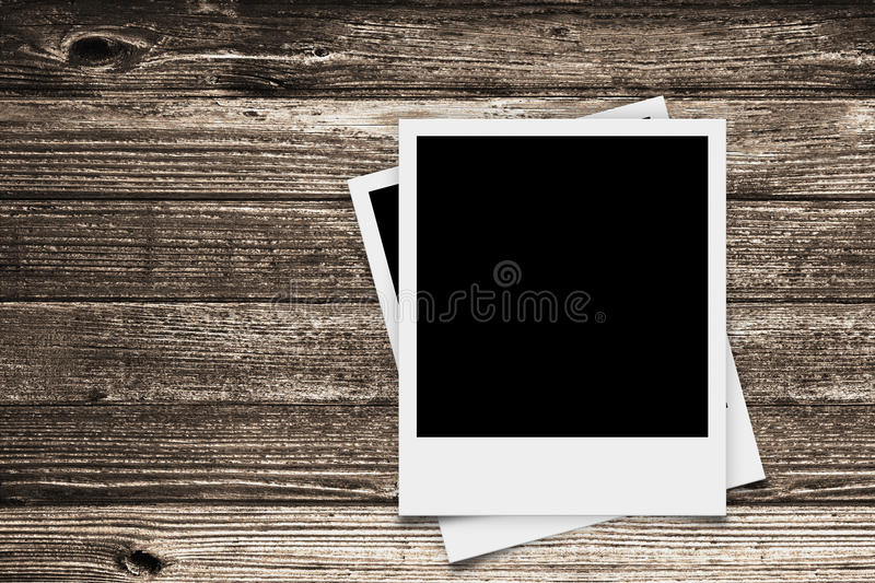 Download Two Polaroid Retro Frames On Wood Texture Stock Illustration - Illustration of grungy, element: 37900879