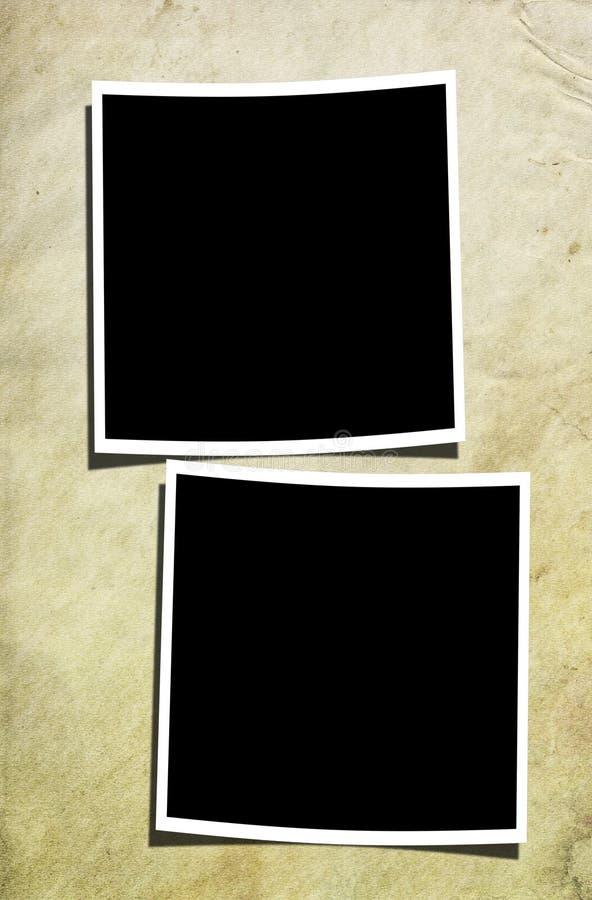Free Two Polaroids On Old Wall Stock Image - 21635161