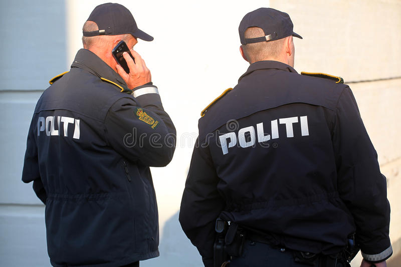 Two police officers. royalty free stock images