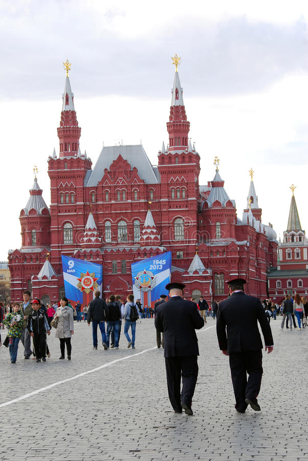 Download Two Policemen Walking On The Red Square Editorial Photography - Image: 30733122