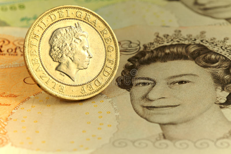 Two pound coin stock photography