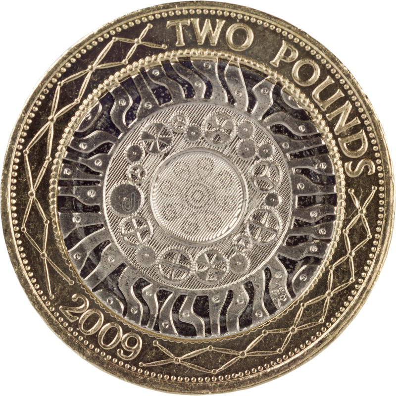Two pound coin royalty free stock image