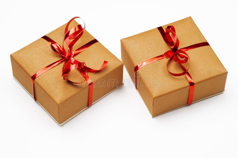 Download Two presents stock photo. Image of event, xmas, isolated - 5511084
