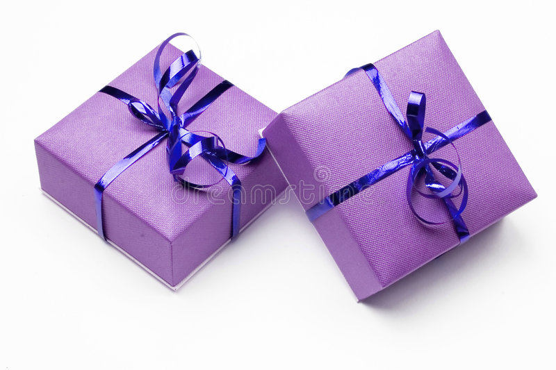 Download Two presents stock image. Image of purple, event, presents - 5511099