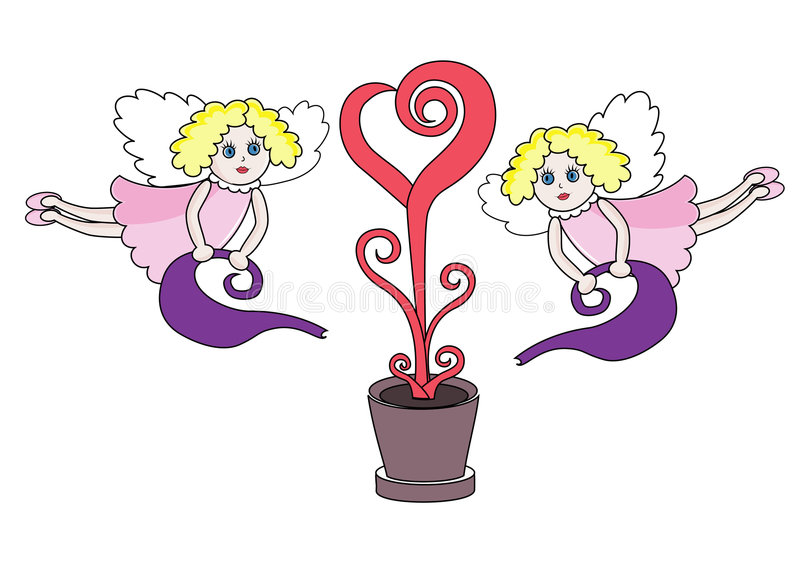 Download Two Pretty Angels Stock Photography - Image: 7643862