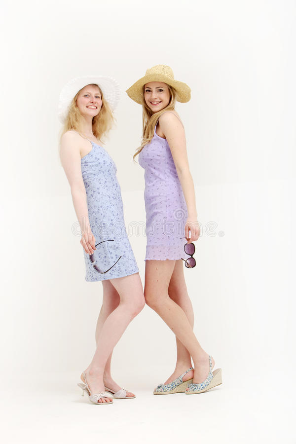 Download Two Pretty Young Friends Ready To Go Shopping Stock Image - Image: 25288743