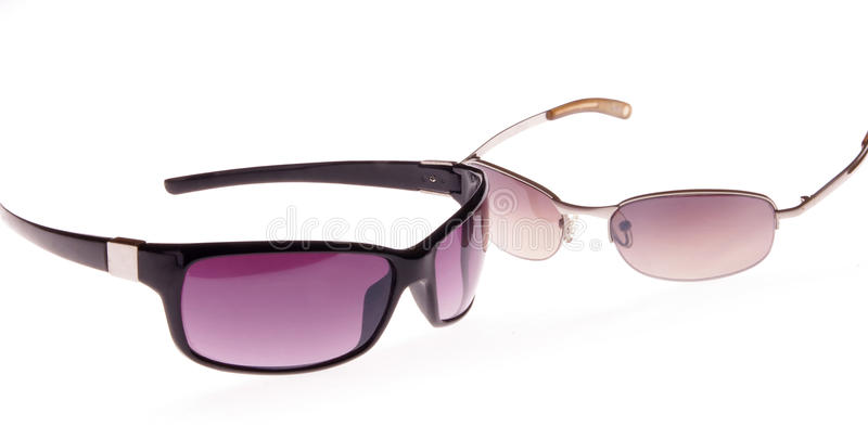 Two purple sunglasses royalty free stock images